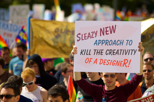 Sleazy new approach to kill the creativity of a designer for freelancers