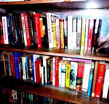 Books in a shelf