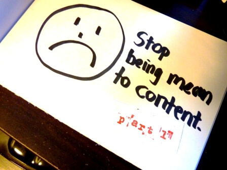 stop being mean to content part 1