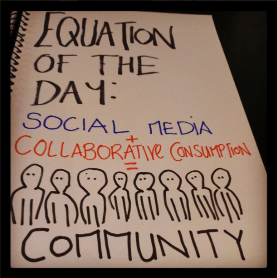 Collaborative consumption, social media consulting and community