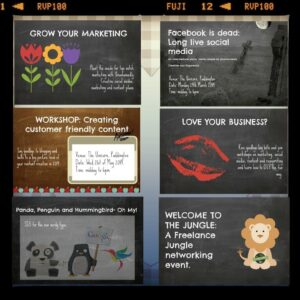 Marketing plans, workshops and events for business