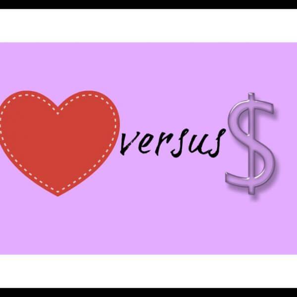 Love versus sales