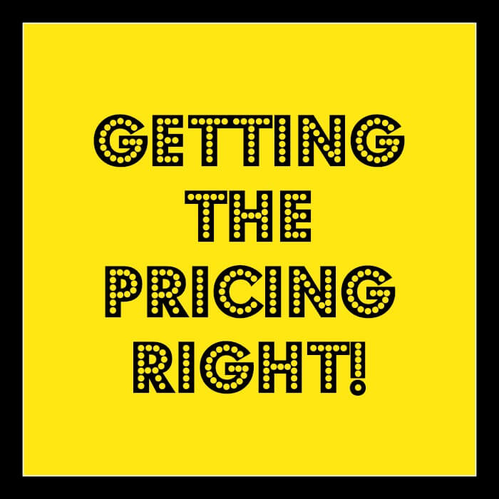 marketing advice for small business on product pricing